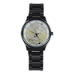 White Flowers 2 Stainless Steel Round Watches by timelessartoncanvas