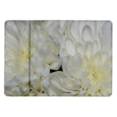 White Flowers 2 Samsung Galaxy Tab 10 1  P7500 Flip Case by timelessartoncanvas