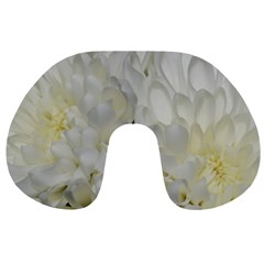 White Flowers 2 Travel Neck Pillows by timelessartoncanvas
