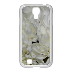 White Flowers 2 Samsung Galaxy S4 I9500/ I9505 Case (white) by timelessartoncanvas