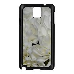 White Flowers 2 Samsung Galaxy Note 3 N9005 Case (black) by timelessartoncanvas