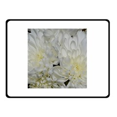 White Flowers 2 Double Sided Fleece Blanket (small)  by timelessartoncanvas