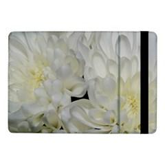 White Flowers 2 Samsung Galaxy Tab Pro 10 1  Flip Case by timelessartoncanvas