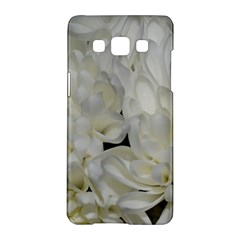 White Flowers 2 Samsung Galaxy A5 Hardshell Case  by timelessartoncanvas