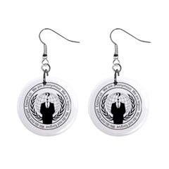 Anonymous Seal  Mini Button Earrings by igorsin