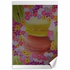 Macaroons And Floral Delights Canvas 24  X 36  by LovelyDesigns4U