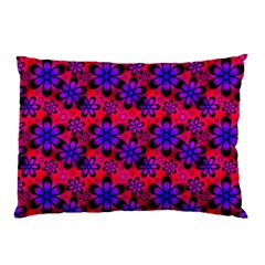 Neon Retro Flowers Pink Pillow Cases (two Sides) by MoreColorsinLife