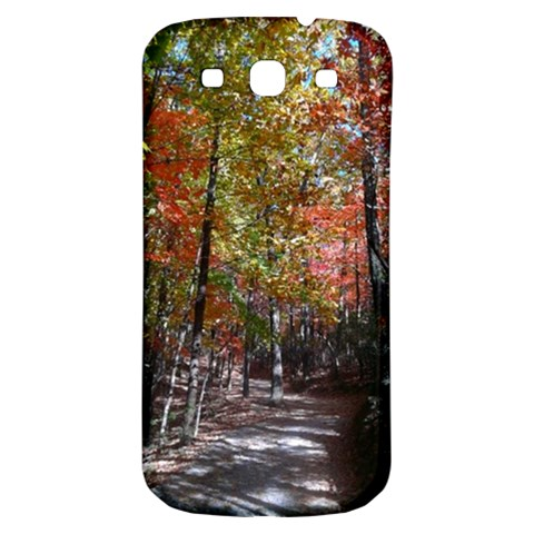 Red Pink Leaves Forest Walk  By Emily Zwez   Samsung Galaxy S3 S Iii Classic Hardshell Back Case   Nnqyx549bfyx   Www Artscow Com Front