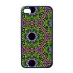 Repeated Geometric Circle Kaleidoscope Apple iPhone 4 Case (Black)