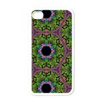 Repeated Geometric Circle Kaleidoscope Apple iPhone 4 Case (White)