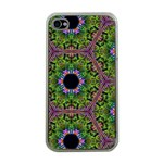 Repeated Geometric Circle Kaleidoscope Apple iPhone 4 Case (Clear)