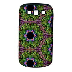 Repeated Geometric Circle Kaleidoscope Samsung Galaxy S Iii Classic Hardshell Case (pc+silicone) by canvasngiftshop