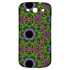 Repeated Geometric Circle Kaleidoscope Samsung Galaxy S3 S Iii Classic Hardshell Back Case by canvasngiftshop