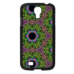Repeated Geometric Circle Kaleidoscope Samsung Galaxy S4 I9500/ I9505 Case (black) by canvasngiftshop