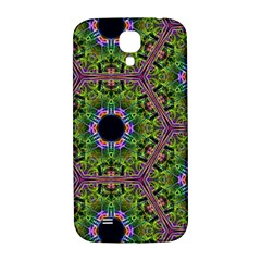 Repeated Geometric Circle Kaleidoscope Samsung Galaxy S4 I9500/i9505  Hardshell Back Case by canvasngiftshop