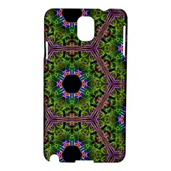 Repeated Geometric Circle Kaleidoscope Samsung Galaxy Note 3 N9005 Hardshell Case by canvasngiftshop