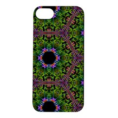 Repeated Geometric Circle Kaleidoscope Apple Iphone 5s Hardshell Case by canvasngiftshop