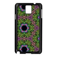 Repeated Geometric Circle Kaleidoscope Samsung Galaxy Note 3 N9005 Case (black) by canvasngiftshop