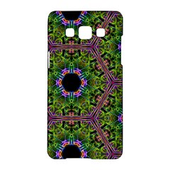 Repeated Geometric Circle Kaleidoscope Samsung Galaxy A5 Hardshell Case  by canvasngiftshop