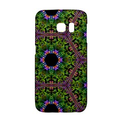Repeated Geometric Circle Kaleidoscope Galaxy S6 Edge by canvasngiftshop