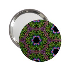 Repeated Geometric Circle Kaleidoscope 2 25  Handbag Mirrors by canvasngiftshop