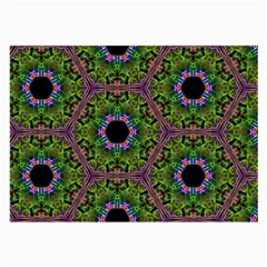 Repeated Geometric Circle Kaleidoscope Large Glasses Cloth (2 Side) by canvasngiftshop