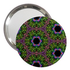 Repeated Geometric Circle Kaleidoscope 3  Handbag Mirrors by canvasngiftshop