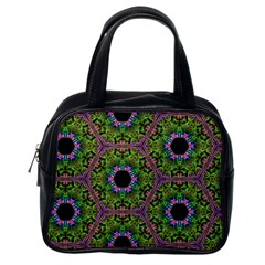 Repeated Geometric Circle Kaleidoscope Classic Handbags (one Side) by canvasngiftshop