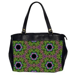 Repeated Geometric Circle Kaleidoscope Office Handbags (2 Sides)  by canvasngiftshop