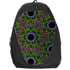 Repeated Geometric Circle Kaleidoscope Backpack Bag by canvasngiftshop