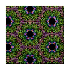 Repeated Geometric Circle Kaleidoscope Tile Coasters by canvasngiftshop