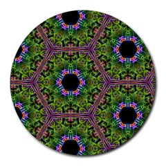 Repeated Geometric Circle Kaleidoscope Round Mousepads