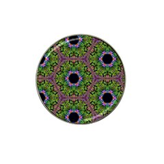 Repeated Geometric Circle Kaleidoscope Hat Clip Ball Marker by canvasngiftshop