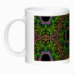 Repeated Geometric Circle Kaleidoscope Night Luminous Mugs by canvasngiftshop