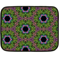 Repeated Geometric Circle Kaleidoscope Double Sided Fleece Blanket (mini)  by canvasngiftshop