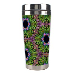 Repeated Geometric Circle Kaleidoscope Stainless Steel Travel Tumblers by canvasngiftshop