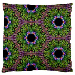 Repeated Geometric Circle Kaleidoscope Standard Flano Cushion Cases (one Side)  by canvasngiftshop