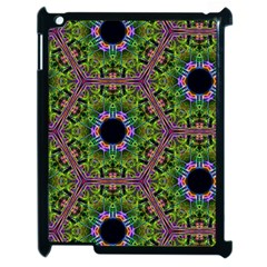 Repeated Geometric Circle Kaleidoscope Apple Ipad 2 Case (black) by canvasngiftshop
