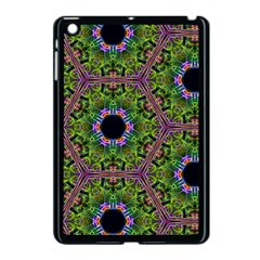 Repeated Geometric Circle Kaleidoscope Apple Ipad Mini Case (black) by canvasngiftshop