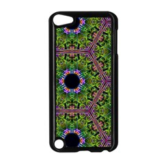 Repeated Geometric Circle Kaleidoscope Apple Ipod Touch 5 Case (black) by canvasngiftshop