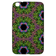 Repeated Geometric Circle Kaleidoscope Samsung Galaxy Tab 3 (8 ) T3100 Hardshell Case  by canvasngiftshop