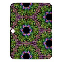 Repeated Geometric Circle Kaleidoscope Samsung Galaxy Tab 3 (10 1 ) P5200 Hardshell Case  by canvasngiftshop
