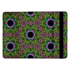 Repeated Geometric Circle Kaleidoscope Samsung Galaxy Tab Pro 12 2  Flip Case by canvasngiftshop