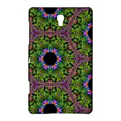 Repeated Geometric Circle Kaleidoscope Samsung Galaxy Tab S (8.4 ) Hardshell Case  by canvasngiftshop