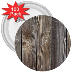Wood Fence 3  Buttons (100 Pack)  by trendistuff