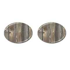 Wood Fence Cufflinks (oval) by trendistuff