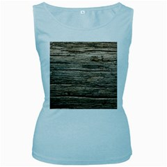 Weathered Wood Women s Baby Blue Tank Tops by trendistuff
