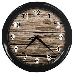 Weathered Wood Wall Clocks (black) by trendistuff