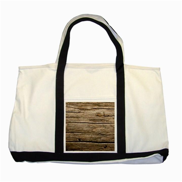 WEATHERED WOOD Two Tone Tote Bag