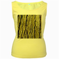 Tree Bark Women s Yellow Tank Tops by trendistuff